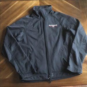 Fahrenheit Mens Black Outdoor Jacket MEDIUM